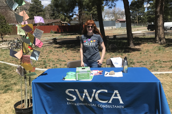 SWCA table in Flagstaff Earth Day event