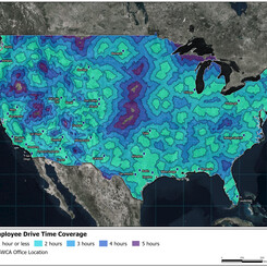 SWCA driving distance map