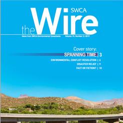 magazine cover showing Kelvin Bridge in Arizona