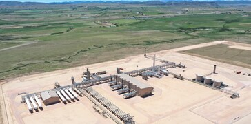 aerial image of Steamboat Plant wyoming